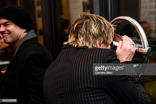 Andreas Meurer aka Andi and Andreas Frege aka Campino of the band Die Toten Hosen attends the WarmUp at the Glashuette Original lounge during the...