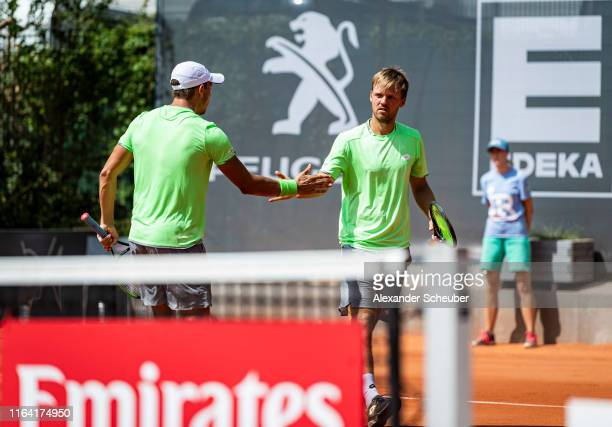 Andreas Mies and Kevin Krawietz in action during the Hamburg Open 2019 at Rothenbaum on July 25 2019 in Hamburg Germany