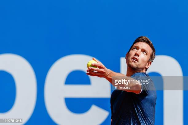 Andreas Mies of Germany controls the ball during the BMW Open by FWU at MTTC IPHITOS on May 01 2019 in Munich Germany