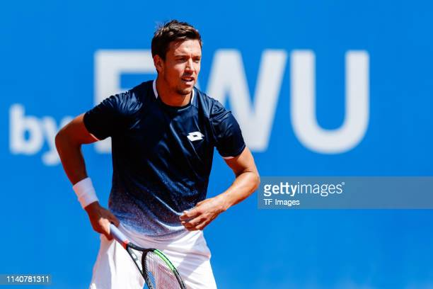 Andreas Mies of Germany looks on during the BMW Open by FWU at MTTC IPHITOS on May 01 2019 in Munich Germany