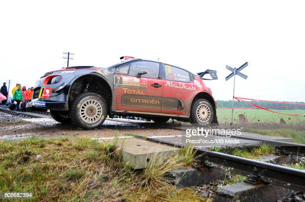 Andreas Mikkelsen NOR Anders Jaeger NOR Citroen Total Abu Dhabi WRT during the WRC Orlen 74 Rally Poland on June 30 2017 in Mikolajki Poland