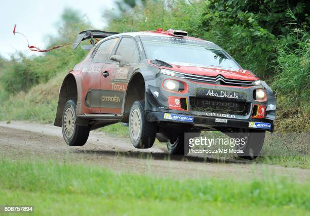 Andreas Mikkelsen NOR Anders Jaeger NOR Citroen Total Abu Dhabi WRT during the WRC Orlen 74 Rally Poland on July 02 2017 in Mikolajki Poland