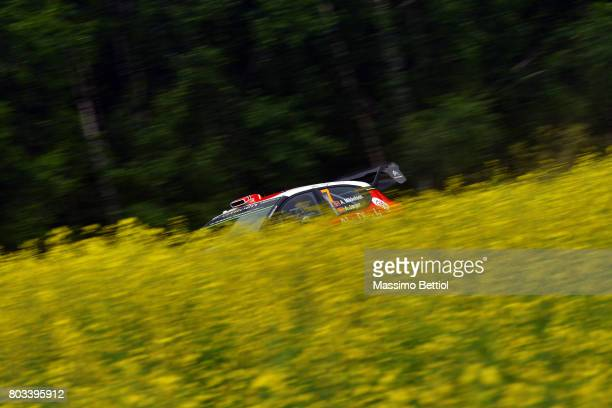 Andreas Mikkelsen of Norway and Anders Jaeger of Norway compete in their Citroen Total Abu Dhabi WRT Citroen C3 WRC during the Shakedown of the WRC...