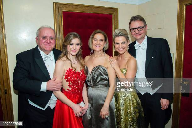 Andreas Mikl Anna Mikl Johanna MiklLeitner Kristina Sprenger Gerald Gerstbauer during the Opera Ball Vienna at Vienna State Opera on February 20 2020...