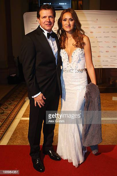 Andreas Moeller and his wife Sigrid pose during the 31 Sportpresseball at Alte Oper on November 10 2012 in Frankfurt am Main Germany