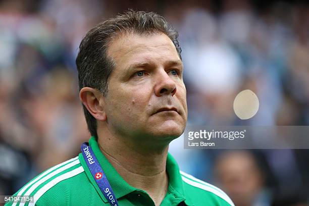 Andreas Moller assistant coach of Hungary during the UEFA EURO 2016 Group F match between Iceland and Hungary at Stade Velodrome on June 18 2016 in...