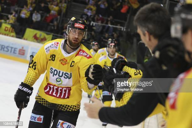 Andreas Noedl of Vienna during the Vienna Capitals v EC VSV Erste Bank Eishockey Liga at Erste Bank Arena on January 18 2019 in Vienna Austria