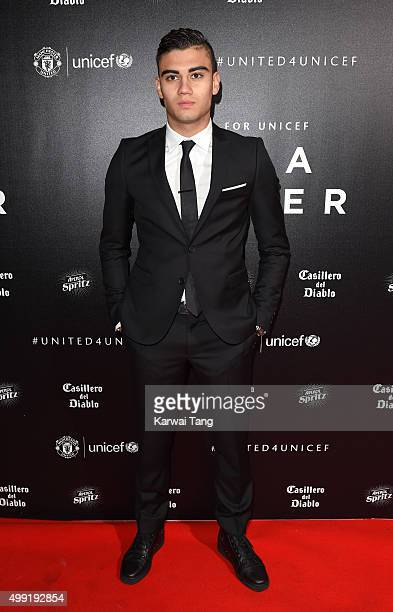 Andreas Pereira attends the United for UNICEF Gala Dinner at Old Trafford on November 29 2015 in Manchester England
