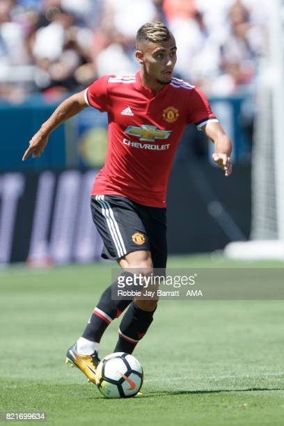 Andreas Pereira during the International Champions Cup 2017 match between Real Madrid v Manchester United at Levi'a Stadium on July 23 2017 in Santa...