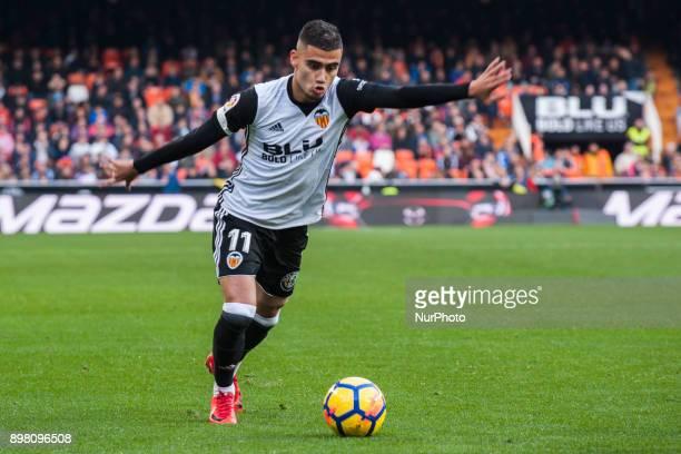 Andreas Pereira during the match between Valencia CF against Villarreal CF week 17 of La Liga 2017/18 at Mestalla stadium Valencia SPAIN 17th...