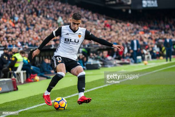 Andreas Pereira during the match between Valencia CF against Villarreal CF week 17 of La Liga 2017/18 at Mestalla stadium Valencia SPAIN 17th...