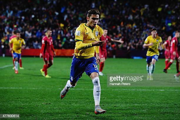 Andreas Pereira of Brazil celebrates after scoring a goal during the FIFA U20 World Cup Final match between Brazil and Serbia at North Harbour...