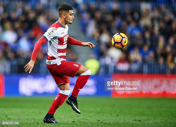 Andreas Pereira of Granada CF in action during La Liga match between Malaga CF and Granada CF at La Rosaleda Stadium December 9 2016 in Malaga Spain