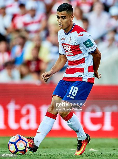 Andreas Pereira of Granada CF in action during the match between Granada CF vs SD Eibar as part of La Liga at Nuevo los Carmenes Stadium on September...