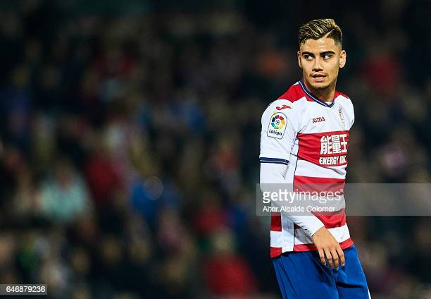 Andreas Pereira of Granada CF looks on during La Liga match between Granada CF vs Deportivo Alaves at Nuevo los Carmenes Stadium on March 01 2017 in...