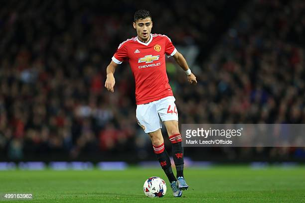 Andreas Pereira of Man Utd in action during the Capital One Cup Fourth Round match between Manchester United and Middlesbrough at Old Trafford on...