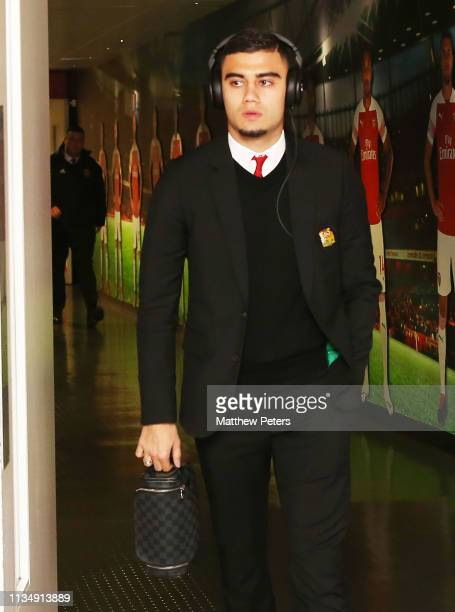 Andreas Pereira of Manchester United arrives ahead of the Premier League match between Arsenal FC and Manchester United at Emirates Stadium on March...