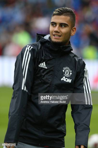 Andreas Pereira of Manchester United before the game against Valerenga today at Ullevaal Stadion on July 30 2017 in Oslo Norway