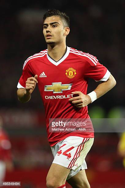 Andreas Pereira of Manchester United during the Capital One Cup Fourth Round match between Manchester United v Middlesbrough at Old Trafford on...