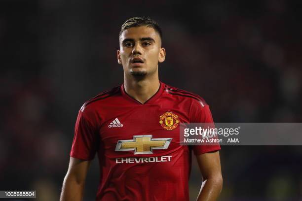 Andreas Pereira of Manchester United during the International Champions Cup 2018 match between AC Milan and Manchester United at StubHub Center on...
