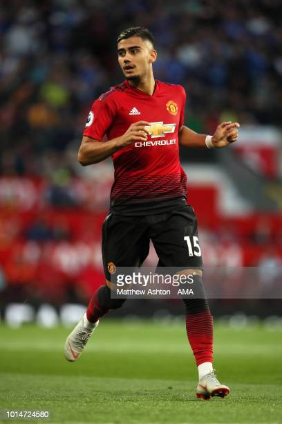 Andreas Pereira of Manchester United during the Premier League match between Manchester United and Leicester City at Old Trafford on August 10 2018...
