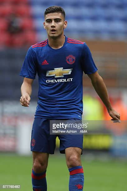 Andreas Pereira of Manchester United during the preseason friendly between Wigan Athletic and Manchester United at JJB Stadium on July 16 2016 in...
