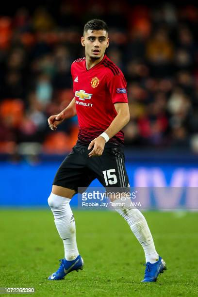 Andreas Pereira of Manchester United during the UEFA Champions League Group H match between Valencia and Manchester United at Estadio Mestalla on...
