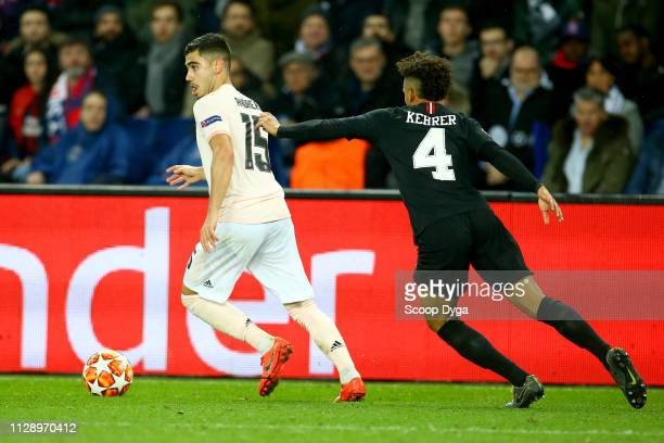 Andreas Pereira of Manchester United during the UEFA Champions League Round of 16 Second Leg match between Paris Saint Germain and Manchester United...