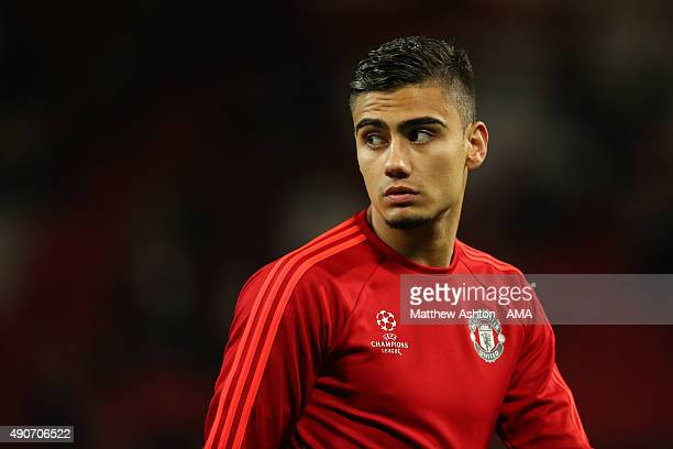 Andreas Pereira of Manchester United during the UEFA Champions League match between Manchester United and Wolfsburg at Old Trafford on September 30...