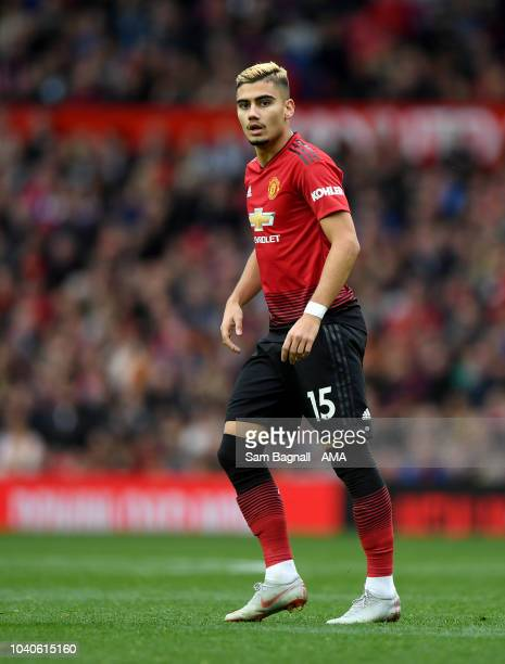 Andreas Pereira of Manchester United during to the Premier League match between Manchester United and Wolverhampton Wanderers at Old Trafford on...