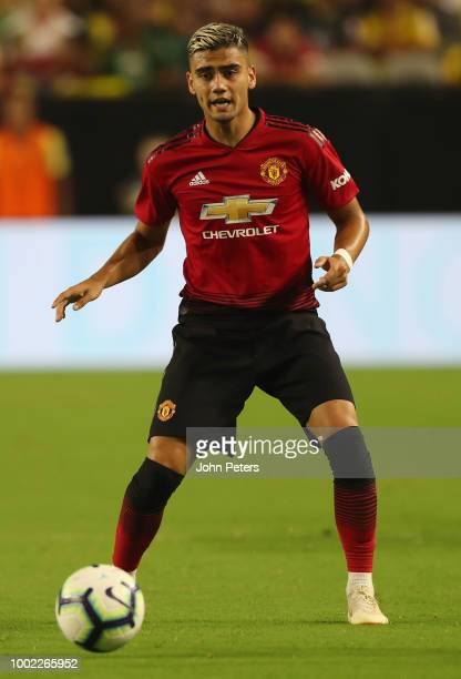 Andreas Pereira of Manchester United in action during the preseason friendly match between Manchester United and Club America at University of...