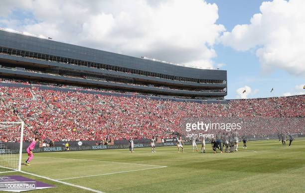 Andreas Pereira of Manchester United scores their first goal during the preseason friendly match between Manchester United and Liverpool at Michigan...