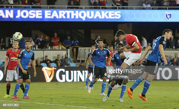 Andreas Pereira of Manchester United scores their third goal during the International Champions Cup 2015 match between San Jose Earthquakes and...