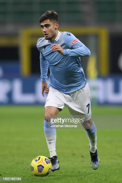 Andreas Pereira of SS Lazio during the Serie A match between FC Internazionale and SS Lazio at Stadio Giuseppe Meazza on February 14, 2021 in Milan,...