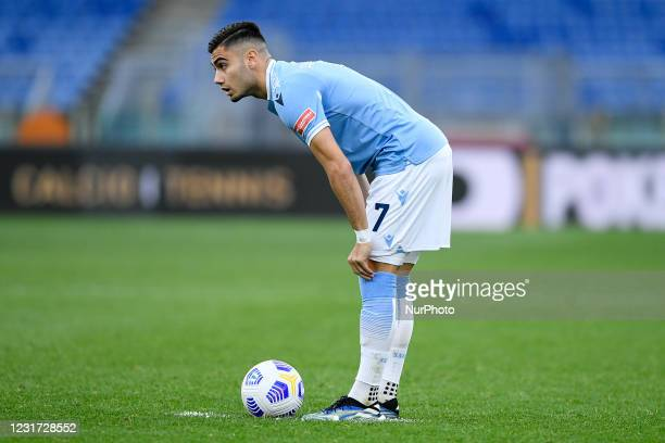 Andreas Pereira of SS Lazio during the Serie A match between SS Lazio and FC Crotone at Stadio Olimpico, Rome, Italy on 12 March 2021.