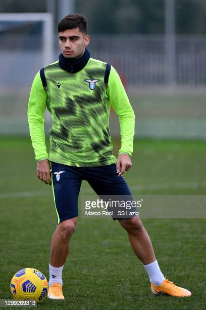 Andreas Pereira of SS Lazio during the SS Lazio training session at the Formello sport center on January 29, 2021 in Rome, Italy.
