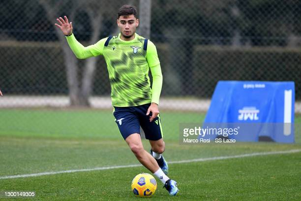 Andreas Pereira of SS Lazio during the SS Lazio training session at the Formello sport center on February 03, 2021 in Rome, Italy.