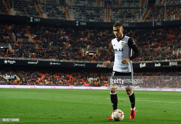 Andreas Pereira of Valencia walks on the pitch during the Copa del Rey Round of 16 second Leg match between Valencia CF and UD Las Palmas on January...