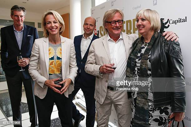 Andreas Petzold Julia Jaekel Horst von Buttlar HansUlrich Joerges and Claudia Roth attend the STERN And CAPITAL Summer Party on June 16 2015 in...