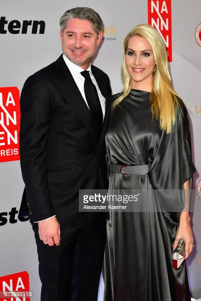 Andreas Pfaff and journalist Judith Rakers attend the Nannen Award 2017 on April 27 2017 in Hamburg Germany