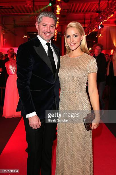 Andreas Pfaff and Judith Rakers are seen during the Ein Herz Fuer Kinder reception at Adlershof Studio on December 3 2016 in Berlin Germany