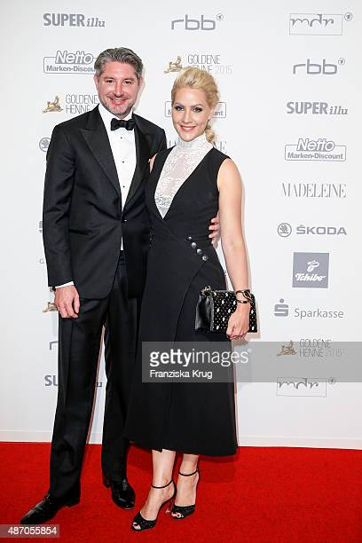 Andreas Pfaff and Judith Rakers attend Madeleine At Goldene Henne 2015 on September 05 2015 in Berlin Germany