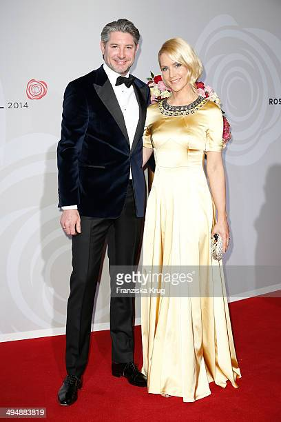 Andreas Pfaff and Judith Rakers-Pfaff attend the Rosenball 2014 on May 31, 2014 in Berlin, Germany.