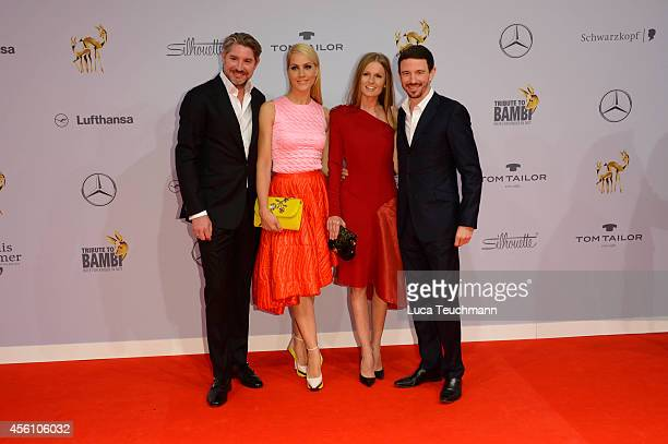 Andreas Pfaff, Judith Rakers, Katrin Kraus and Oliver Berben attends the Tribute to Bambi 2014 at Station on September 25, 2014 in Berlin, Germany.