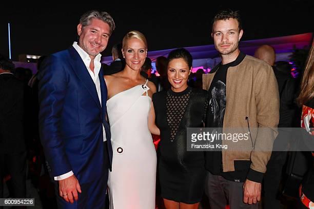 Andreas Pfaff Judith Rakers Nazan Eckes and Julian Khol attend the Bertelsmann Summer Party at Bertelsmann Repraesentanz on September 8 2016 in...