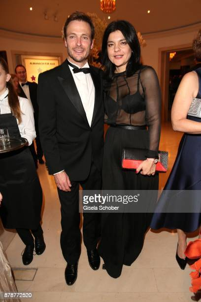 Andreas Pietschmann and his partner Jasmin Tabatabai during the 66th 'Bundespresseball' at Hotel Adlon on November 24 2017 in Berlin Germany