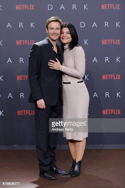 Andreas Pietschmann and Jasmin Tabatabai attend the premiere of the first German Netflix series 'Dark' at Zoo Palast on November 20 2017 in Berlin...