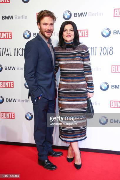 Andreas Pietschmann and Jasmina Tabatabi attend the BUNTE BMW Festival Night on the occasion of the 68th Berlinale International Film Festival Berlin...