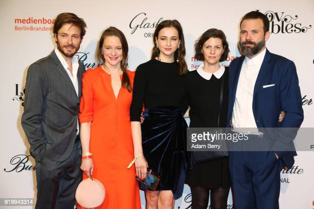 Andreas Pietschmann Anne RattePolle and guests attend the Medienboard BerlinBrandenburg Arrivals during the 68th Berlinale International Film...
