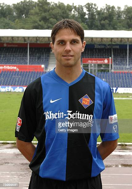 Andreas Richter poses during the Bundesliga 2nd Team Presentation of TuS Koblenz at the Oberwerth stadium on July 10 2007 in Koblenz Germany